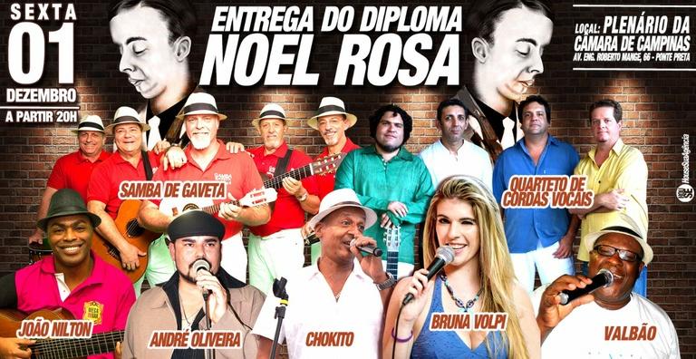 Câmara entrega nesta sexta-feira (01) Diploma Noel Rosa a sambistas de Campinas