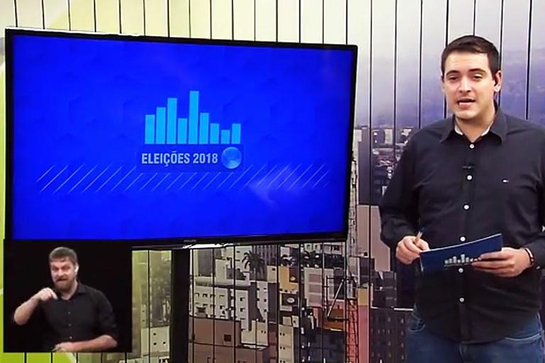 Retrospectiva 2018: em outubro, presidente da Câmara é eleito deputado e TV Câmara faz primeira cobertura das eleições com 100% de Libras no país