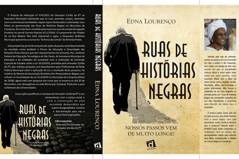 """Livro """"Rua de Histórias Negras"""" - inspirado após projeto do vereador Carlão do PT - será lançado na Câmara de Campinas na próxima quinta-feira (22)"""